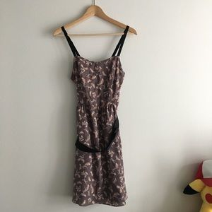 LC Lauren Conrad Dresses - LC Lauren Conrad Floral Belted Dress Lined